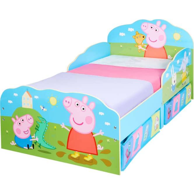 Peppa Pig - Kinderbett mit Stauraum - ca. 70 x 140 cm