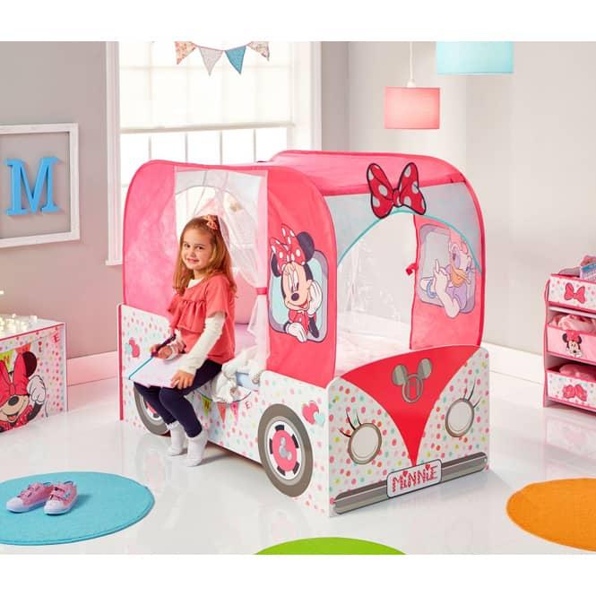 Minnie Mouse - Kinderbett im Bus-Design mit Dach - ca. 70 x 140 cm