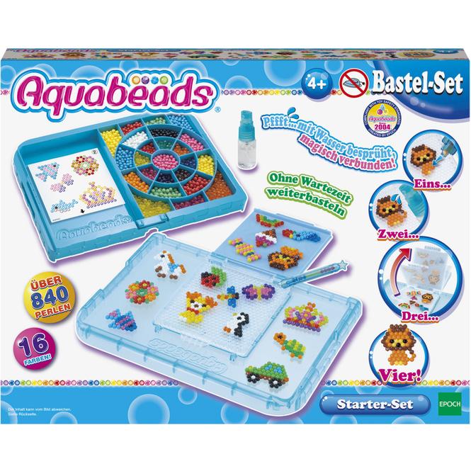 Aquabeads Perlen - Bastelset - Starter Set - blau