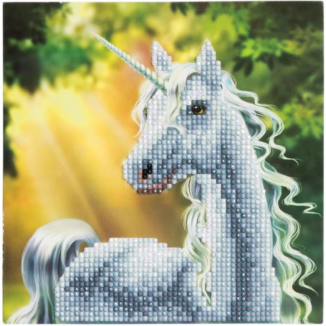 Crystal Art - Kristallkarte - Einhorn