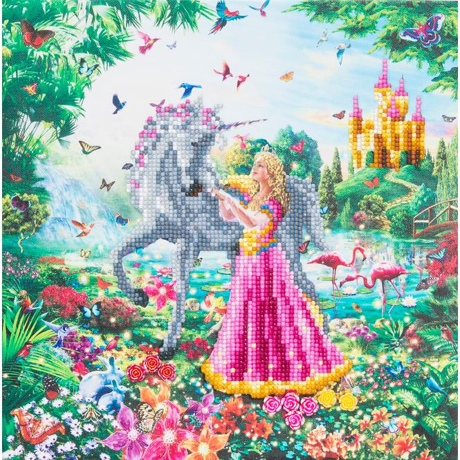 Crystal Art - Kristallbild - Prinzessin & Einhorn