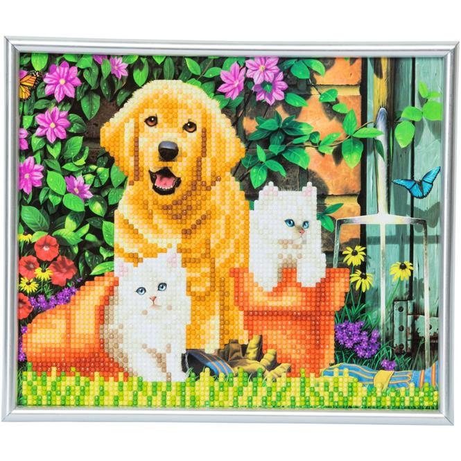 Crystal Art - Kristallbild - Hund & Katze