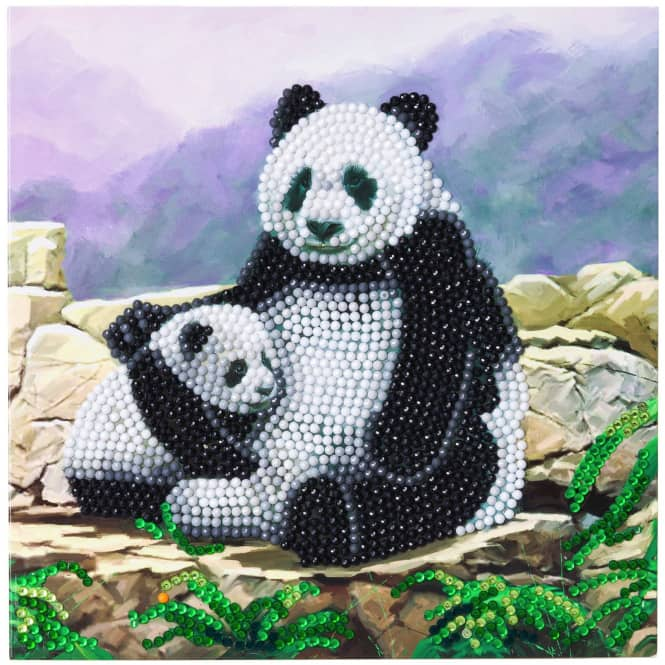Crystal Art - Kristallkarte - Panda