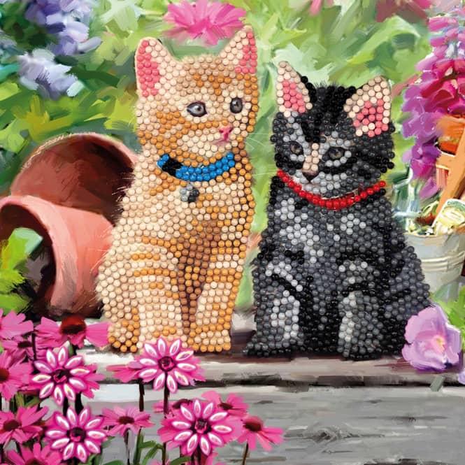 Crystal Art - Kristallkarte - Katzen