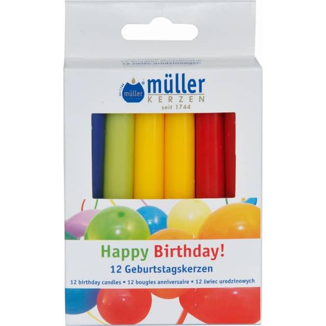 Geburtstagskerzen - 12 Stück