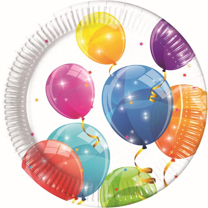 8 Partyteller - Luftballons - Ø = ca. 23 cm