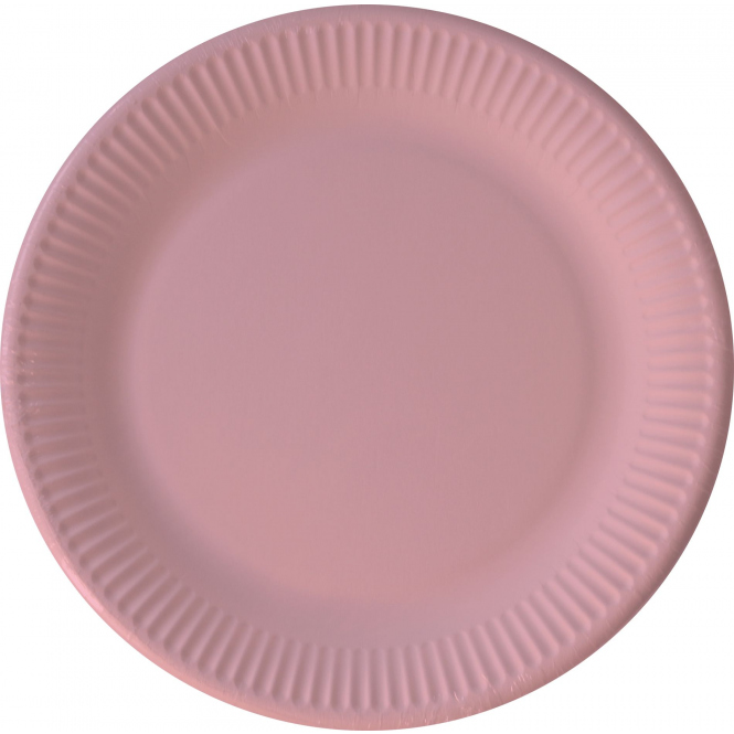 8 Teller - rosa - Ø ca. 23 cm