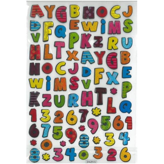 Lasersticker Buchstaben und Zahlen