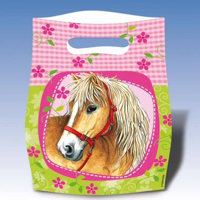 6 Partytüten Pferde