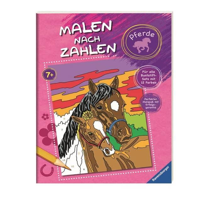 Malen nach Zahlen Malbuch - Pferde