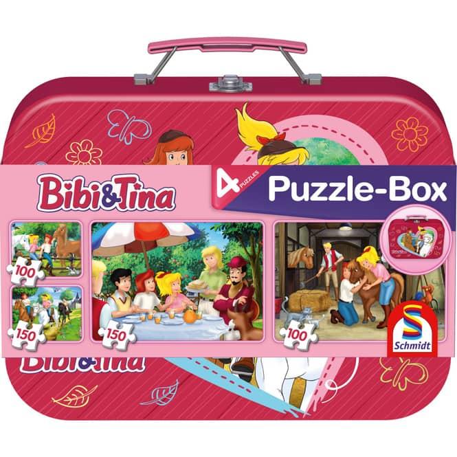 Puzzle-Box - Bibi & Tina - 4-in-1