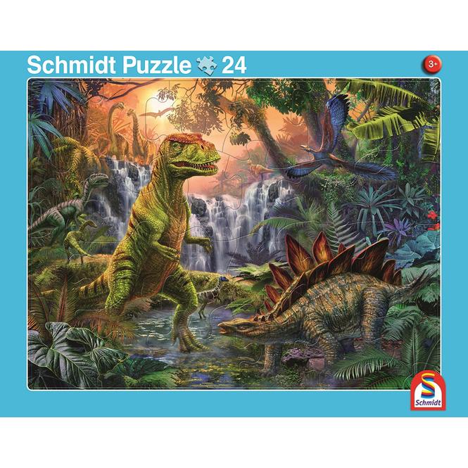 Rahmenpuzzle - Giganten der Urzeit und Dinosaurierwelt - 2er Set