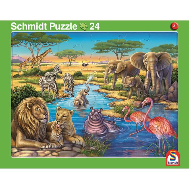 Rahmenpuzzle - Afrika und Nordpol - 2er Set