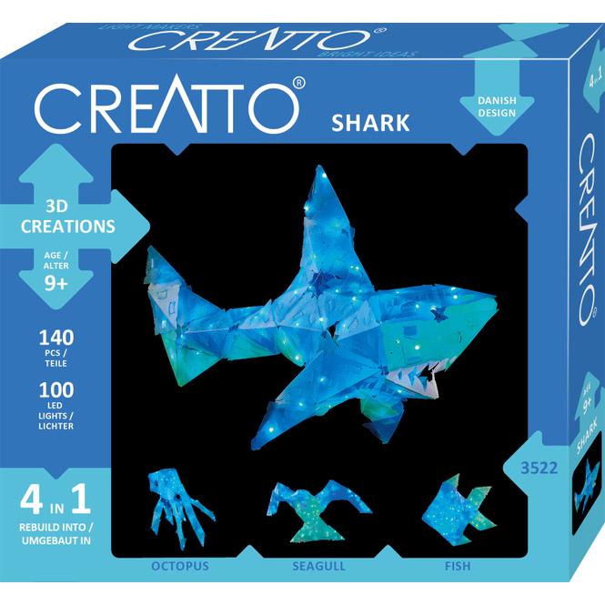 CREATTO - Hai - 3D Puzzle mit LED-Lichtern