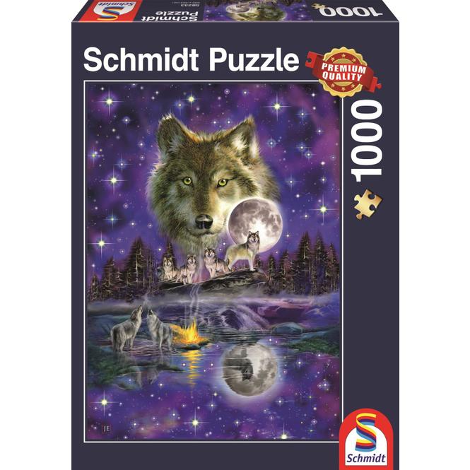 Puzzle - Wolf im Mondlicht - 1000 Teile