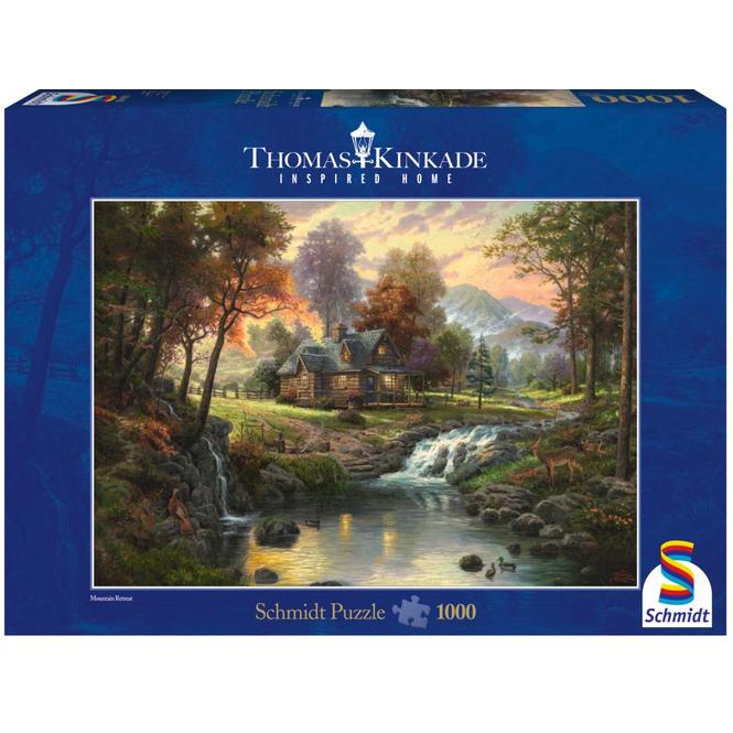 Puzzle - Thomas Kinkade - Holzhaus am Bach - 1000 Teile