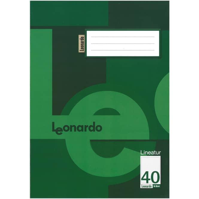 Schulheft DIN A4 kariert mit umlaufendem Rand - Lineatur 40