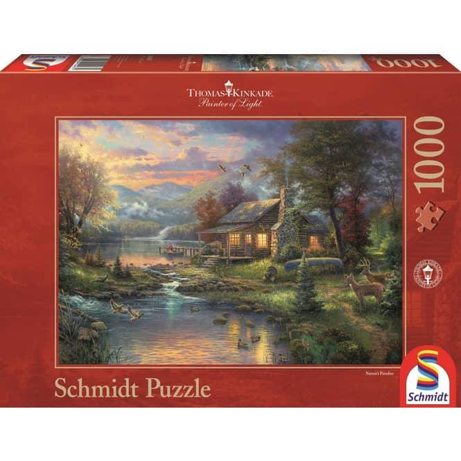 Puzzle - Thomas Kinkade - Im Naturparadies - 1000 Teile