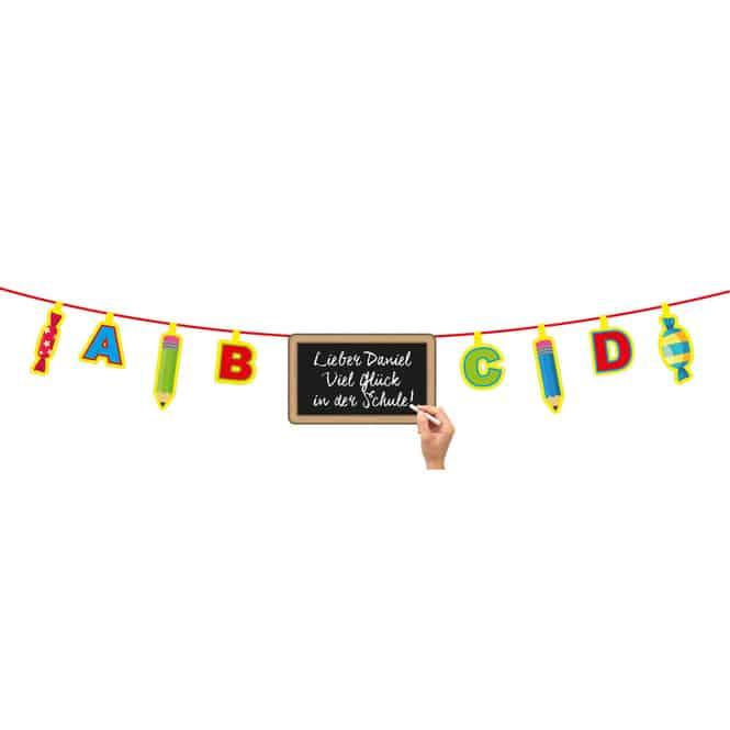 Girlande - Schulanfang mit Tafel