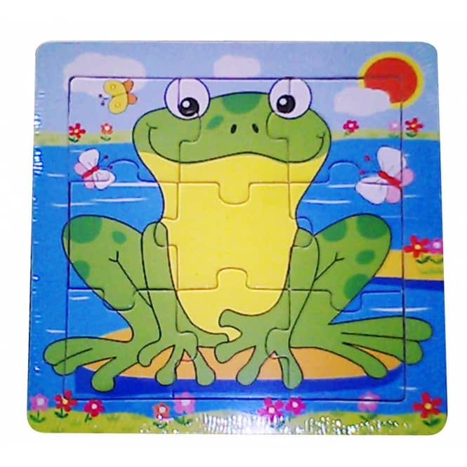 Besttoy - Holz-Rahmenpuzzle - Frosch - 9 Teile