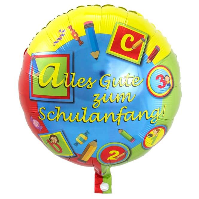 Folienballon - Schulanfang - Ø = ca. 45 cm
