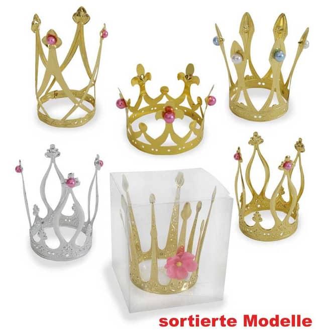 1 x Spielzeug Prinzessinnen- Krone, gold oder silber
