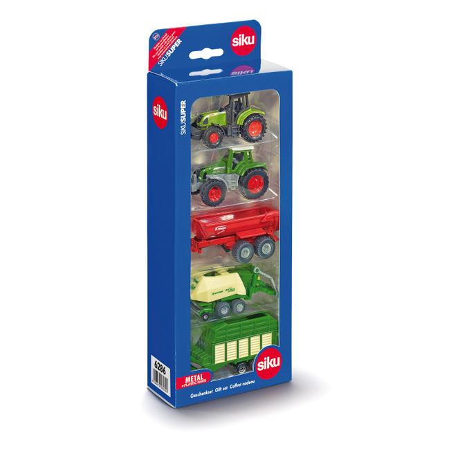 Siku Super 6286 - Geschenkset 7 - 2 Traktoren + 3 Geräten