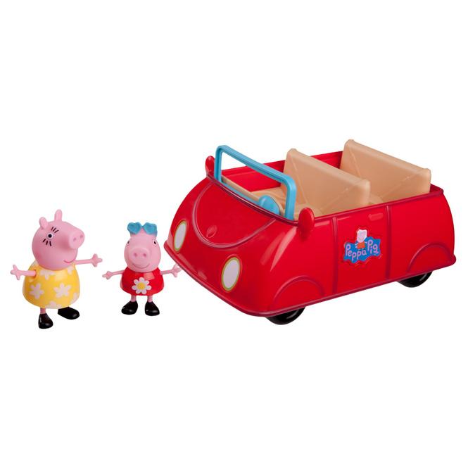 Peppa Wutz - großes rotes Auto mit Spielfiguren
