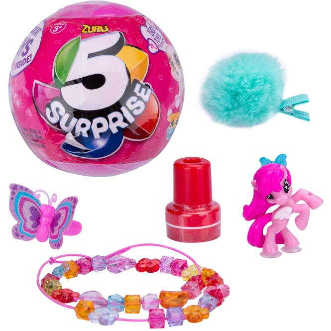 5 Surprise - Überraschungskugel mit 5 Spielzeugen für Mädchen - in jeder Kapsel eine Überraschung