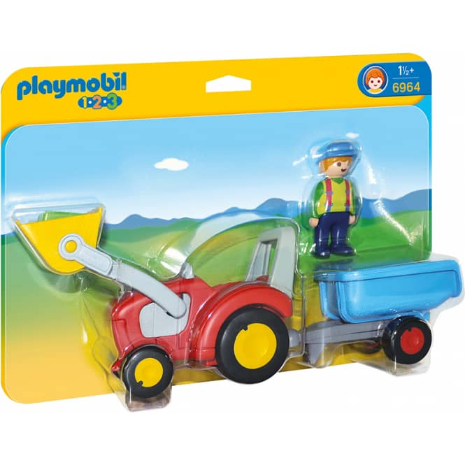 PLAYMOBIL® 6964 - Traktor mit Anhänger - Playmobil 1-2-3
