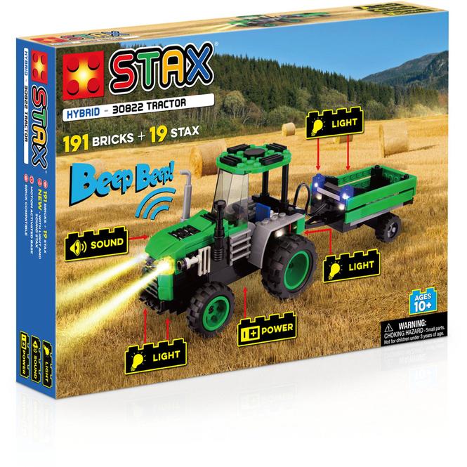 Bausteinset mit Licht und Sound - Traktor