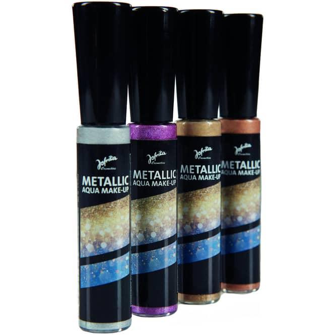 Aqua Make-Up - Metallic - 14 ml - verschiedene Farben