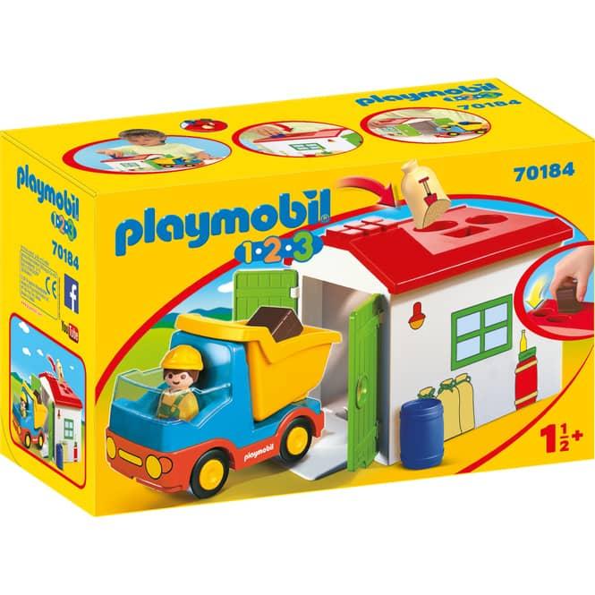 Playmobil® 70184 - LKW mit Sortiergarage - Playmobil 1-2-3