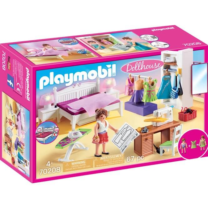 PLAYMOBIL® Dollhouse 70208 - Schlafzimmer mit Nähecke