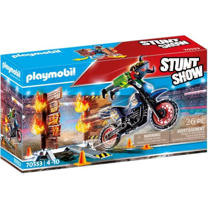 Playmobil® 70553 - Stuntshow Motorrad mit Feuerwand - Playmobil® Stunt Show