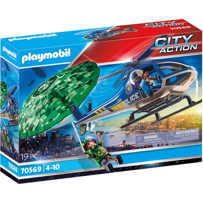 Playmobil® 70569 - Polizei-Hubschrauber: Fallschirm Verfolgung - Playmobil® City Action