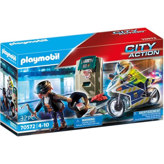 Playmobil® 70572 - Polizei-Motorrad: Verfolgung des Geldräubers - Playmobil® City Action