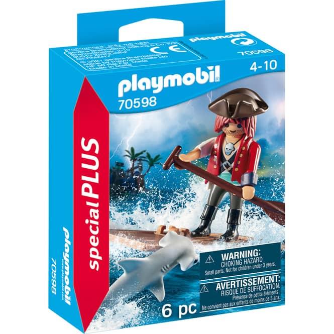 Playmobil® 70598 - Pirat mit Floß und Hammerhai - Playmobil® Special Plus