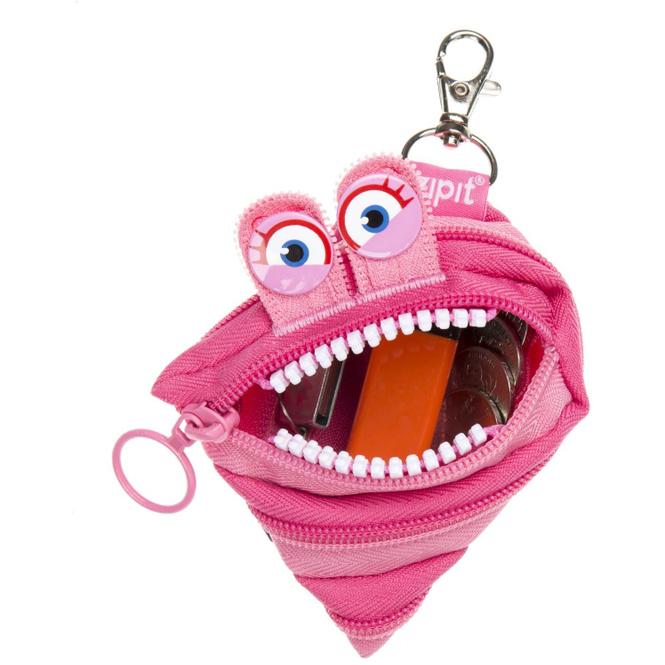 Zipsters Wildlings Reißverschluss-Geldbeutel -  pink
