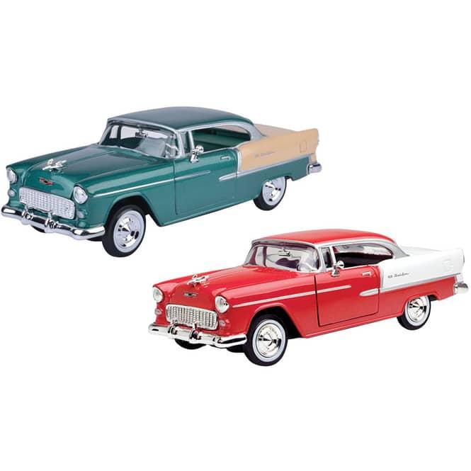 Motormax - Chevy Bel Air 1955 - 1:24 - verschiedene Modelle