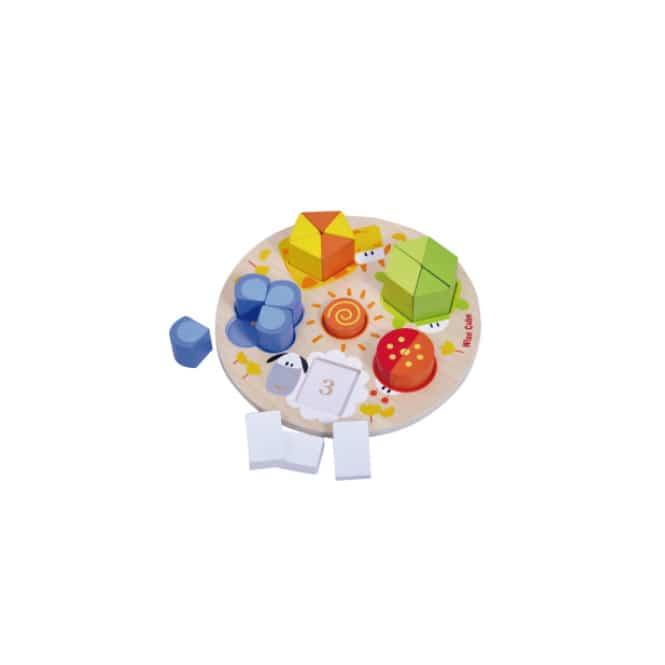 Besttoy - Holz-Puzzle - Tiere - geometrische Formen - 21 Teile