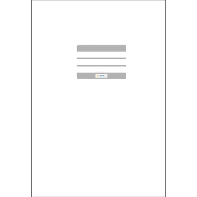 Heftumschlag A4 weiß