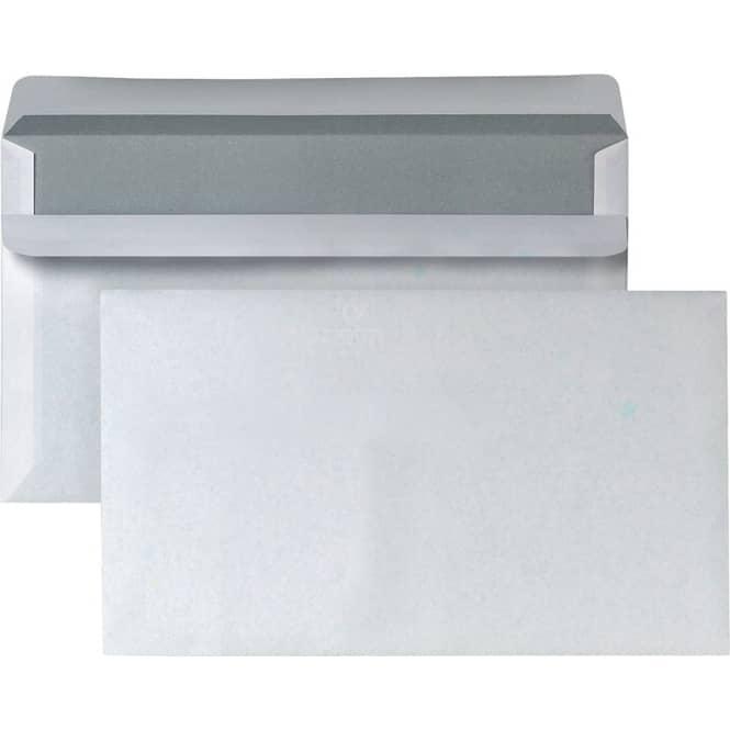 50er Set Briefumschläge - weiß - C6 - ohne Fenster