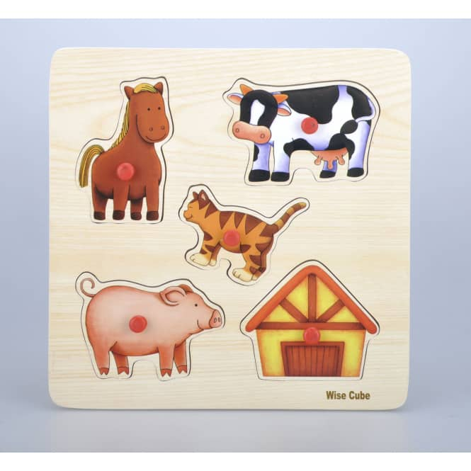 Besttoy - Holz-Puzzle - Bauernhof - 5 Teile