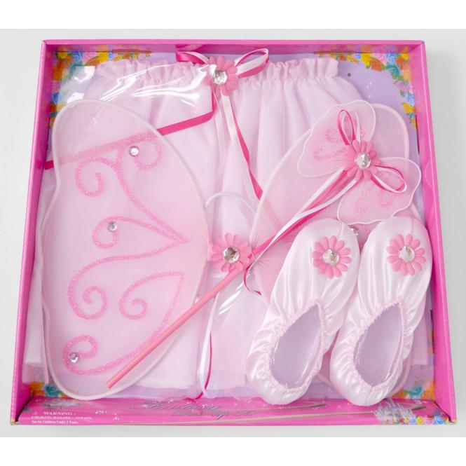 Feen- Spielset mit Schuhen und Zauberstab, rosa