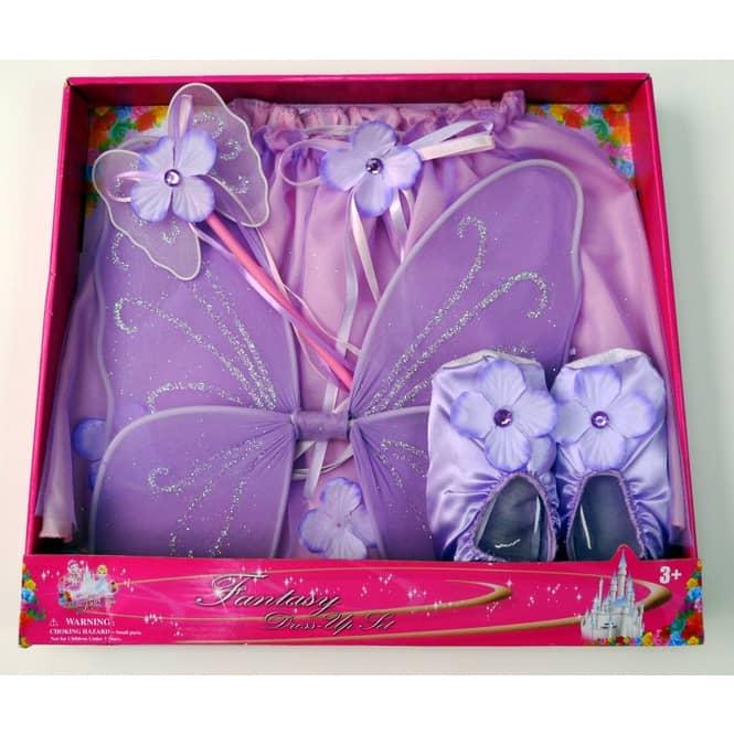 Feen-Spielset mit Schuhen und Zauberstab, lila