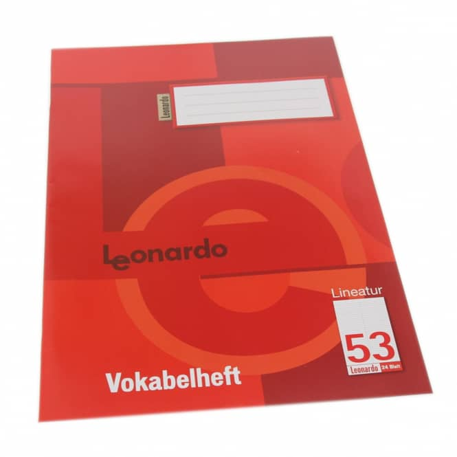 Vokabelheft A4 Lineatur 53 - 2 Spalten - 24 Blatt