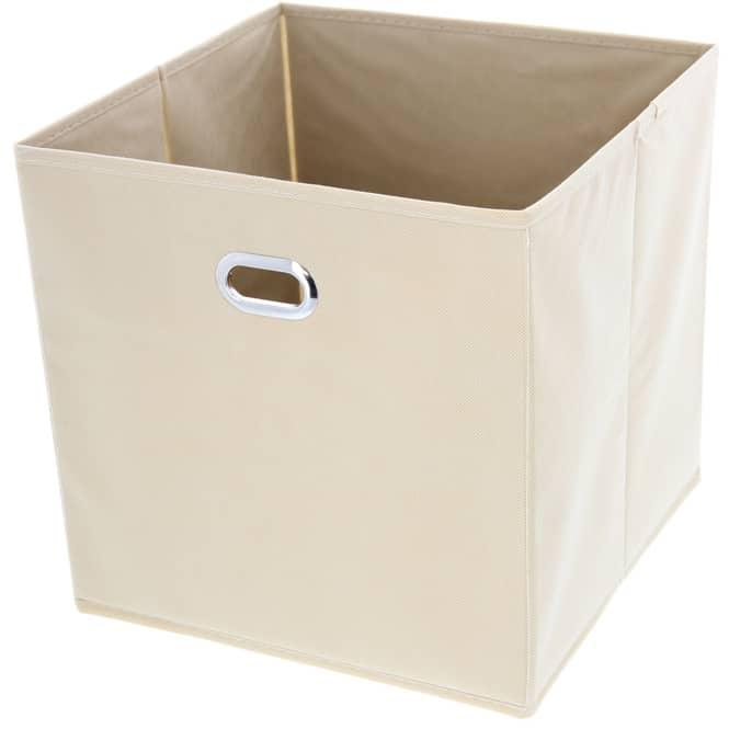 Aufbewahrungsbox - aus Stoff - 30 x 30 x 30 cm - beige