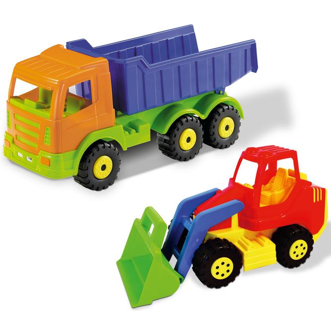 Kipper LKW mit Schaufellader