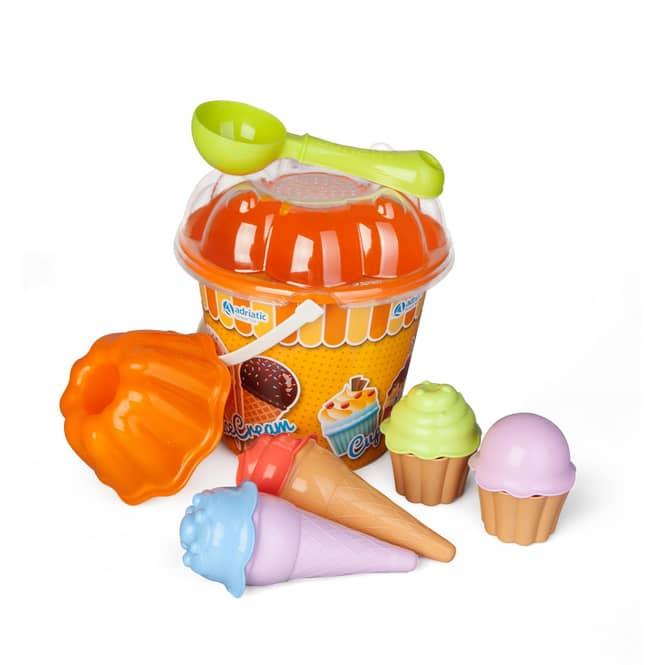 Eimergarnitur - Cupcake- & Eis-Set - 12-teilig